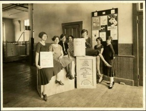 Pepperell Manufacturing Company packing room girls