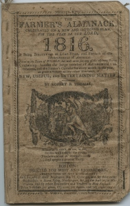Front cover of a New England Farmer's Almanac from 1816
