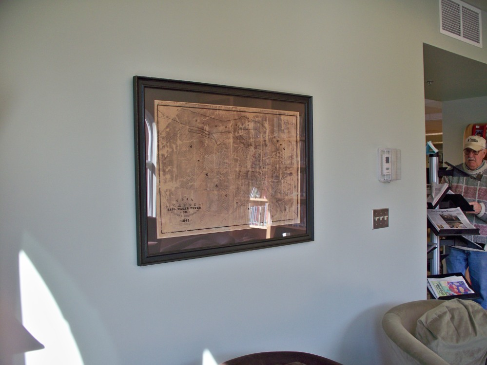 Map as it hangs in the Carroll Room, McArthur Library