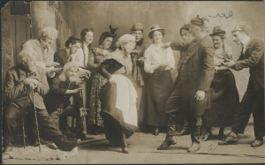 "Play cast in production of ""Tonkourou"", Biddeford, 1910."