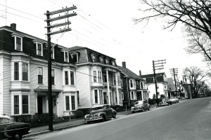 Image 0772. Apartment buildings on Main Street @ Elm Street (across from St. John's Building).