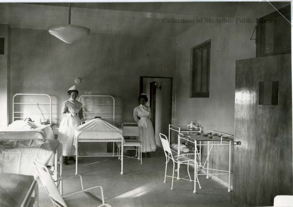 Nurses at Webber Hospital in 1912